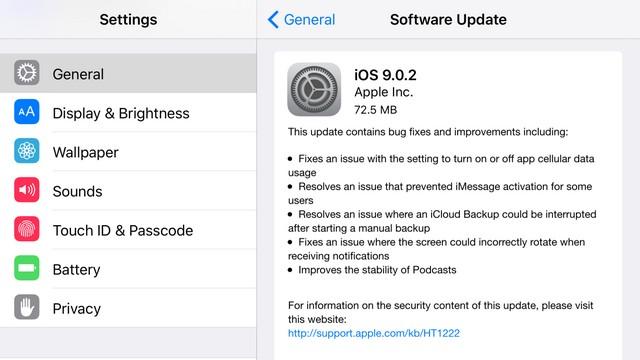 Установить iOS 9.0.2